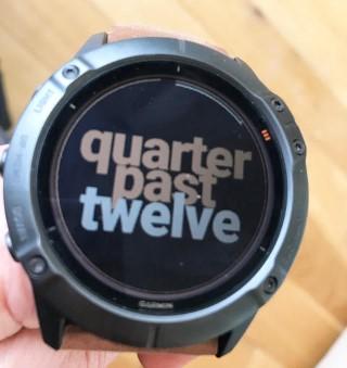 Fuzzy Text Garmin Watchface - Fenix 6X Pro